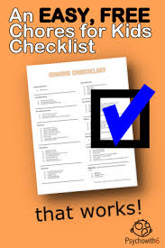 An Easy Free Chores For Kids Checklist That Works