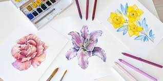 how to create watercolor flowers free