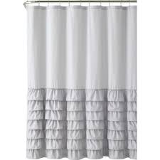 black and gray shower curtain. peeples ruffle shower curtain black and gray o