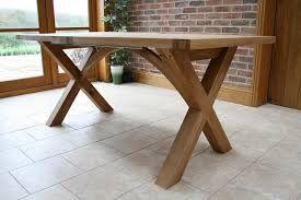 the provence cross leg design of oak dining table