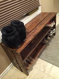 Pallet Shoe Rack. Simple, but rustically elegant. Garage, ideas, man cave