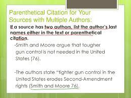 In Text Citation Parenthetical Citations Ppt Download