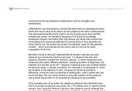 examine the key features of utilitarianism and its strengths and  document image preview