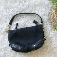 Coach   Black Signature Duffle Bag Purse
