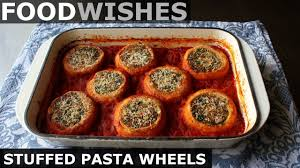 The impossibly tender meatballs are coated in a perfectly sweet/savory tomato sauce and. Stuffed Pasta Wheels Food Wishes Youtube
