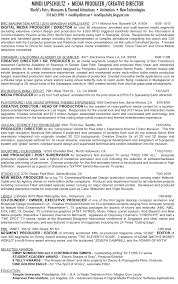 Digital Producer Resume Template Top 8 Advertising Music Production