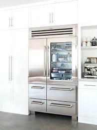 sub zero interior view glass door refrigerator residential clear