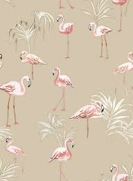 Patterned Wallpaper Cool Exotic Feeling Flamingo And Palm Patterned Wallpaper Mural