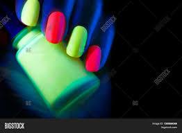 Neon Lights Nail Polish Neon Nails Fashion Image Photo Free Trial Bigstock