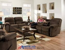 Three Piece Living Room Set American Furniture Af310 Sharpei Chocolate 3 Piece Reclining
