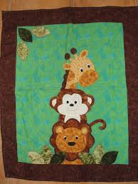 baby animals applique - Cerca con Google   patchworck   Pinterest ... & Jungle animal baby quilt - I don't think there's a pattern for this. Adamdwight.com