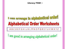 Alphabetical Order Year 1 Alphabetical Order Worksheets By Blueeyed7 Teaching