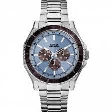 buy men s guess watches authorised uk shop francis gaye men s unplugged multifunction steel bracelet watch