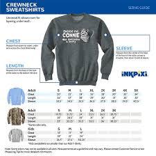 Inkpixi Size Chart Horse Ranch Dark Chocolate Adult Sweatshirt