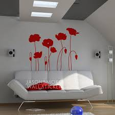 poppy flowers wall decals flower poppy home decor vinyl wall sticker home decoration wallpaper 100cmx115cm free shipping in wall stickers from home garden  on poppy wall art stickers with poppy flowers wall decals flower poppy home decor vinyl wall sticker