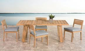 5 piece outdoor dining set. Bermuda Complete Teak Outdoor Dining Set 5 Piece