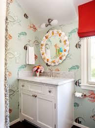Kids Bathroom Vanities Kids Bathrooms Pink And Blue Kidu0027s Bathroom Features A White