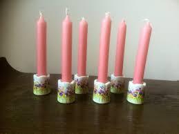 Funny Design West Germany Candle Holder Sweet Set Of 6 Ceramic Mini Candle Holders West German