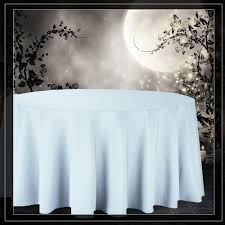 132 inch round tablecloths baby blue