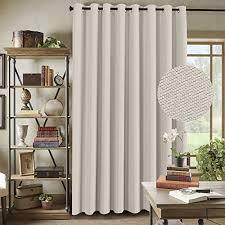100 inch curtains. H.Versailtex Wide Blackout Room Darkening Rich Quality Of Textured Linen Patio Door Curtains Home 100 Inch