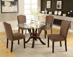 Round Table Dining Small Round Dining Table And Chairs Round Brown Wood Bar Height
