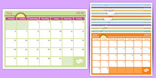 2020 monthly planner template academic year monthly calendar 2019 2020 planning template