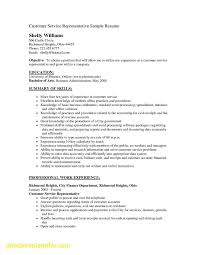 Resume Objective Examples Customer Service New Customer Service