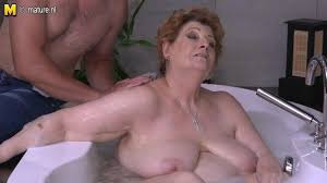 Son fuck mature in bathroom
