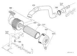 parts for kubota l48 tractor loader backhoes kubota 10176360 l48 engine air cleaner