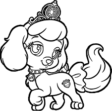 Puppy Dog Coloring Pages Lady And Tramp Family Dogs For Kids Luxury Girl