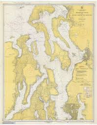 Puget Sound To Seattle Admiralty Inlet Historical Map 1948