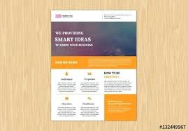 Buy Brochure Templates Single Page Pamphlet Template Caseyroberts Co