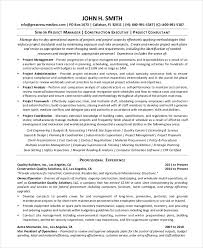 Free Construction Resume Templates Phen375articles Com