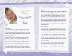 funeral pamphlet child funeral program