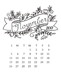 free 2017 printable calendar free pretty things for you