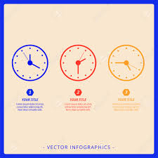 Clock Chart Template Editable Infographic Template Of Dial Chart With Three Clocks