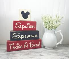Disney Bathroom Mickey Mouse Bathroom Decor Splish Splash Taking A Bath O Apple