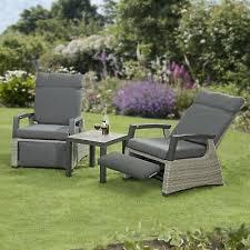 camilla rattan reclining chairs garden