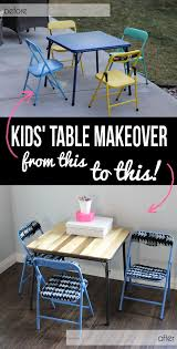 Modern Kids Table Set Makeover - No Power Tools Required | Chair ...