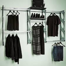 kio storage 5 foot closet kit black
