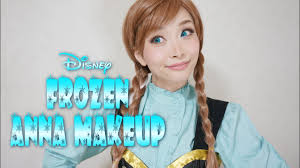 アナ雪 アナ風メイク disney s frozen anna makeup tutorial you
