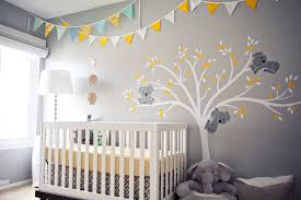 Coral and Gray Nursery. Koala Nursery