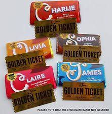 real wonka chocolate bar. Modren Real Fully Personalised Willy Wonka Chocolate Bar Wrapper And Golden Ticket To Real L