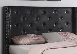black leather headboard. Delighful Headboard HomeLife 48 With Black Leather Headboard