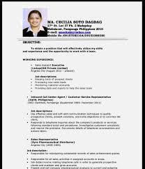 Job Application Cv Example Lezincdc Com
