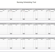Hospital Nurse Schedule Excel Template Nurse Schedule Template