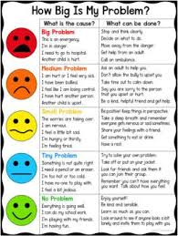 How Big Is My Problem Chart How Big Is My Problem Chart And Worksheet Social Skills