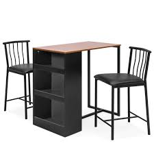 best choice s kitchen counter height dining table set w 2 stools espresso