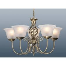 antique brass berkeley ceiling light chandelier 5 arm with glass murano shades 56cm zoom