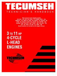 tecumseh l head engines service information carburetor tecumseh l head engines service information carburetor ignition system